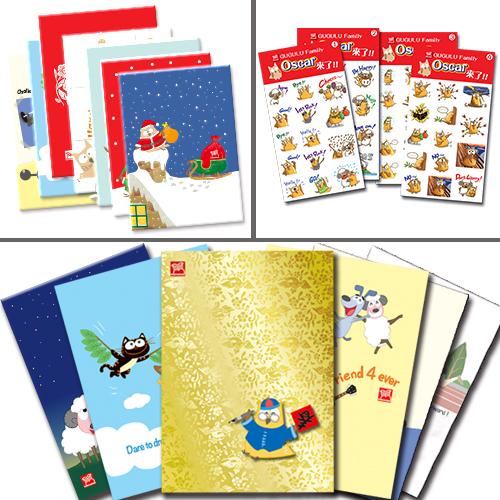 2015文創組:Oscar筆記本(6款)+貼紙(4款)+明信片(8款)