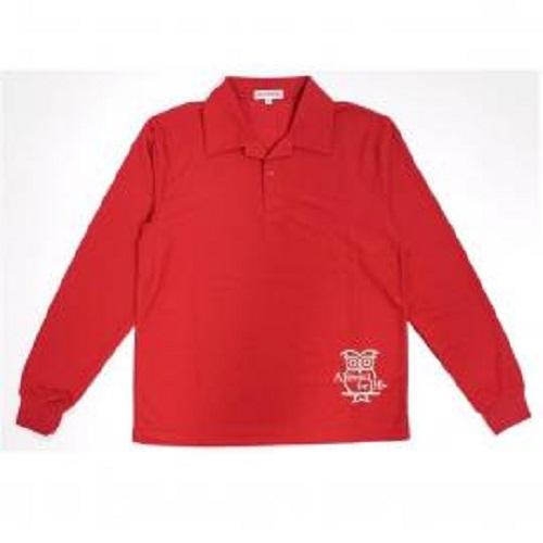 SC長袖Polo男衫(紅)L
