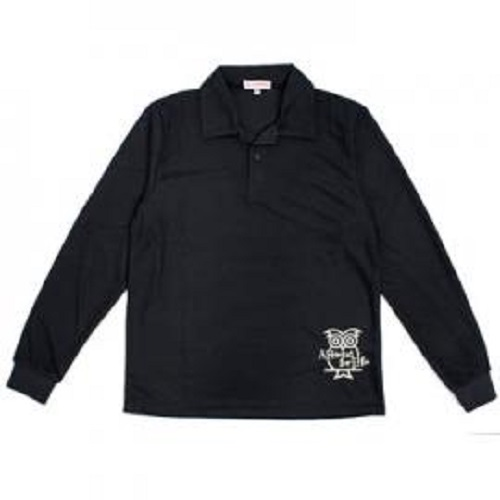 SC長袖Polo男衫(黑)M