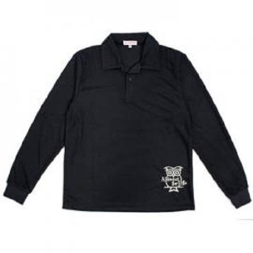 SC長袖Polo男衫(黑)XL
