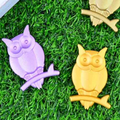 貓頭鷹磁鐵(黃金/淺紫)