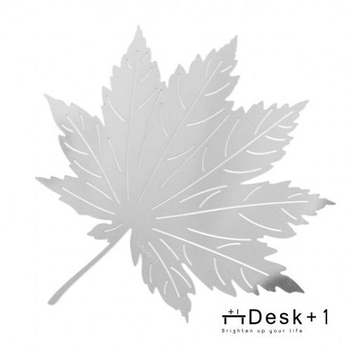 楓葉手折金屬片(銀色)
