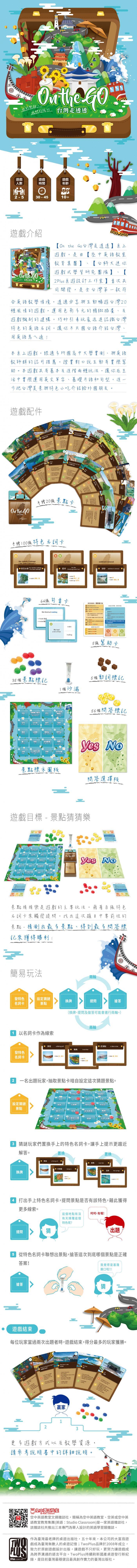 桌遊On The Go 台灣走透透+同名特刊合集