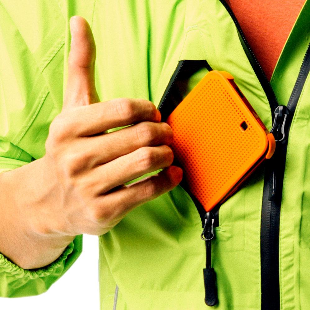 歐尼百克專業級防雨運動外套 綠色/黑色飾邊