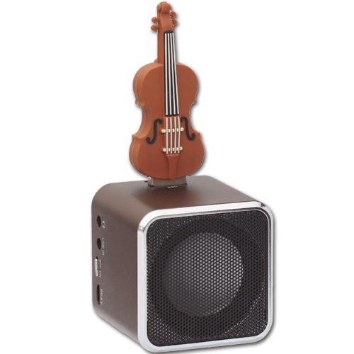 AdQube播放機(顏色隨機出貨)+小提琴造型隨身碟(16G)