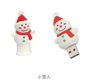 AdQube播放機+小雪人造型隨身碟