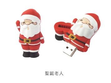 AdQube播放機+聖誕老公公造型隨身碟